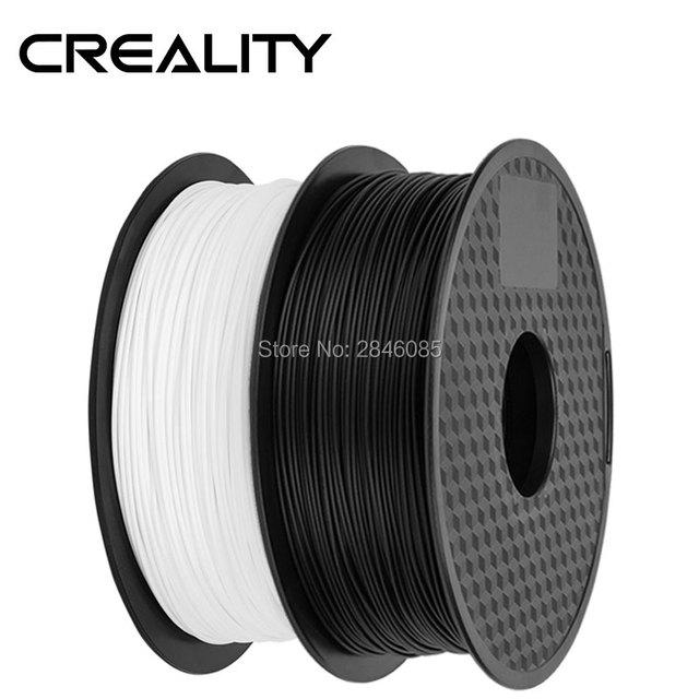Ender Brand PLA Filament Samples 2Pcs 1KG/roll 1.75mm Black+White Two Color for CREALITY 3D Printer /Reprap/Makerbot