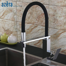 Brass Chrome Single Handle Pull Down Faucet Deck Mounted Hot & Cold Water Function Kitchen Faucet AT6662 все цены
