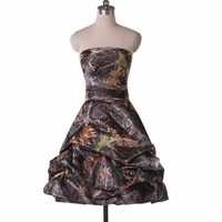 knee length strapless short camo formal cocktail party dresses 2017 new style custom make size 0 or plus size free shipping