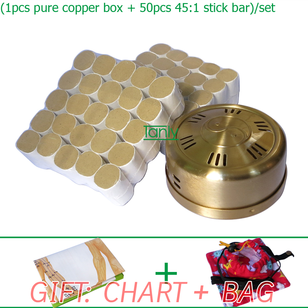 Wholesale and Retail new type thicken pure copper health beauty  45:1 moxa set wholesale and retail new type thicken pure copper health beauty moxa box moxibustion device
