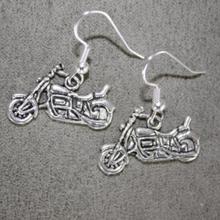 Vintage Design Silver Bijoux Motorcycle Drop Earrings For Women Newest Fashion Jewelry Dangle Earrings Statement Earrings Girls