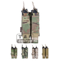 Emerson Tactical Modular MOLLE Double Open Top SMG Mag Pouch Holder EmersonGear Airsoft Magazine Carrier For MP5 / MP7 / KRISS