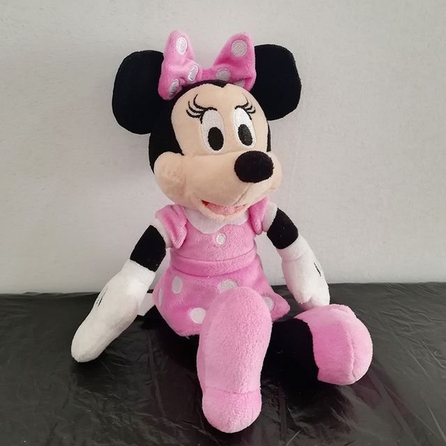Christmas Minnie Mouse Plush.Us 6 9 30 Off 25cm Minnie Mouse Plush Toy Pink Minnie Soft Doll For Kids Birthday Christmas Gift In Stuffed Plush Animals From Toys Hobbies On