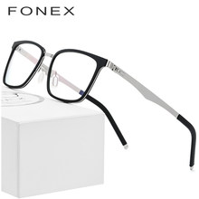 da9e6eecb46 FONEX TR90 Glasses Frame Men Square Prescription Eyeglasses 2019 New Myopia Optical  Frames Spectacles Women Screwless Eyewear