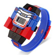 top quality brand cartoon robot child digital watch wristwatch automatic WACHES ar clock silicone children datejust chronograph