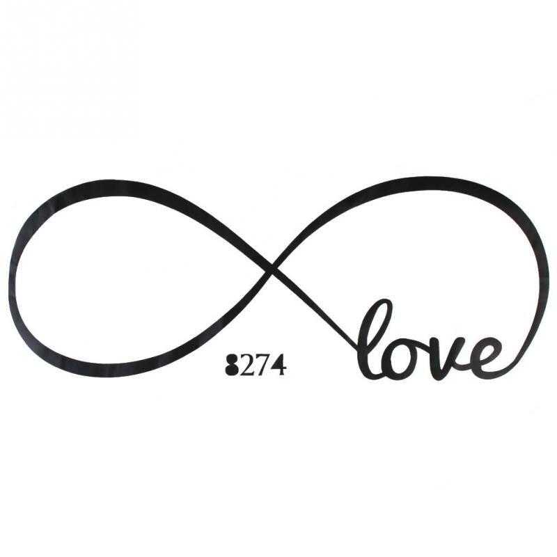 Love Print Romantic Infinity Wall Decal Removable Sticker Symbol Art