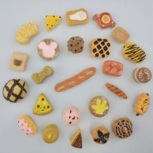 25 pcs/set 3D mini bread Strong neodymium Fridge magnets for refrigerator Home deco Magnet board photo office magnetic message(China)