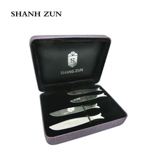SHANH ZUN 4 Pcs Unique Fish Design Collar Stays Stainless Steel, 2.2, 2.5