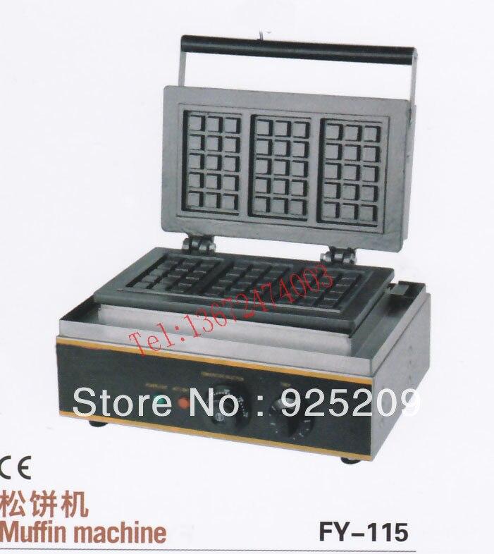 Free shipping 110v 220v 3 pcs Electric waffle maker Square Waffle Machine free shipping electric 110v 220v 10 pcs waffle maker square waffle machine
