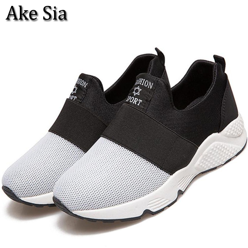 Ake Sia Elegant TOP Women Spring Autumn Lightweight Breathable Air Mesh Casual Female Flat Mujer Zapatillas Plimsolls Shoes F127 free shipping fashion loss weight women shoes spring summer autumn swing female breathable mesh shoes women casual shoes 2717w