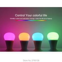 9W E27 DMX512 RGB+CCT LED Light Bulb AC100~240V can 2.4GHz RF Remote Controllable led bulbs for home restaurant bar decoration