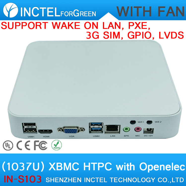 Stock selling Ideal HTPC with USB 3 0 applied in living room educational schools trainning hd