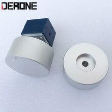 1 peça de alumínio knob diâmetro 44mm alta 22mm para controle de volume do amplificador Potenciômetro botão acessórios de áudio Profissional