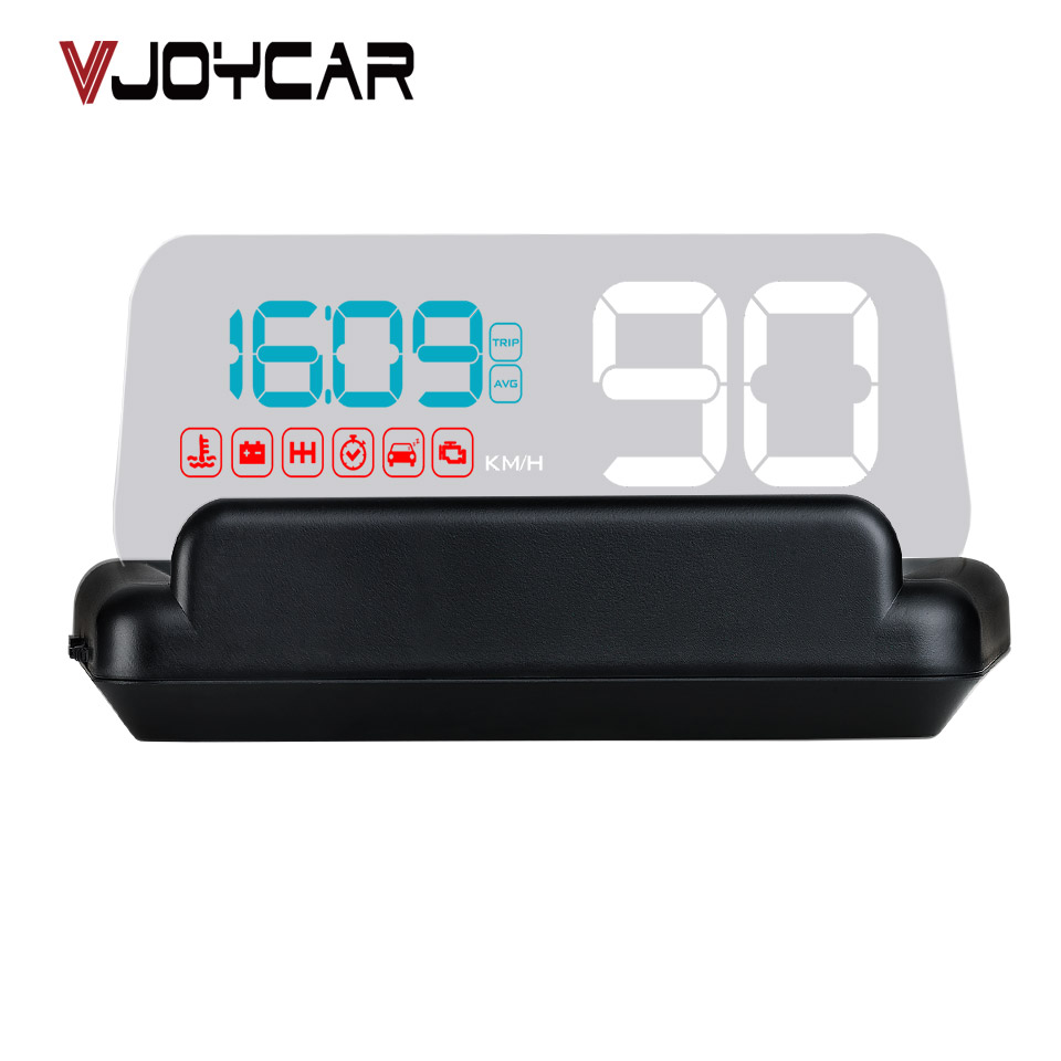 VJOYCAR C500 New OBD Car Speed Projector Hud Head Up Display Digital Speedometer OBD2 Diagnostic Tool Car Accessories Auto Parts c500 obd2 car speed projector hud head up display digital speedometer clock rpm for universal obd ii car electronics accessories