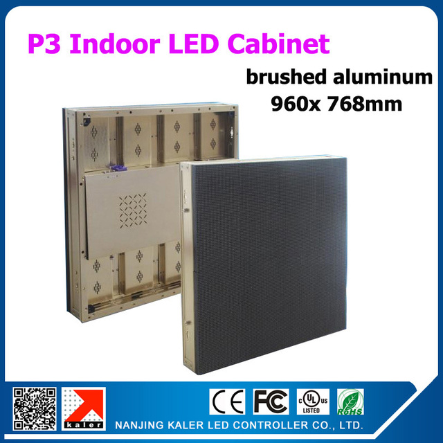 TEEHO 960mm X 768mm Indoor Rental Led Videowall Ph3 Brushed AluminuM Light  Thin Rental Cabinet Led