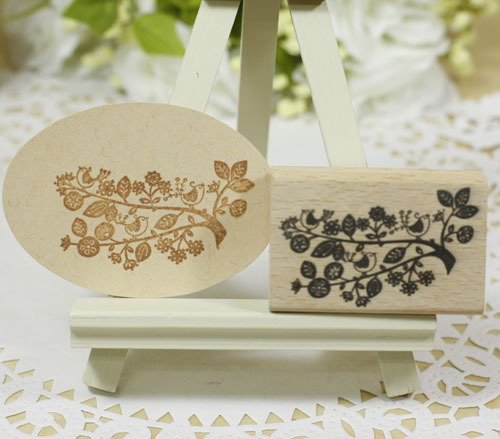 High quality vintage bird on tree stamp ,4*6*2cm carimbo for wooden scrapbooking rubber stamps carimbos For card diy stempel handmade vintage towel 7 4cm tinta sellos craft wooden rubber stamps for scrapbooking carimbo timbri stempel wood silicone stamp