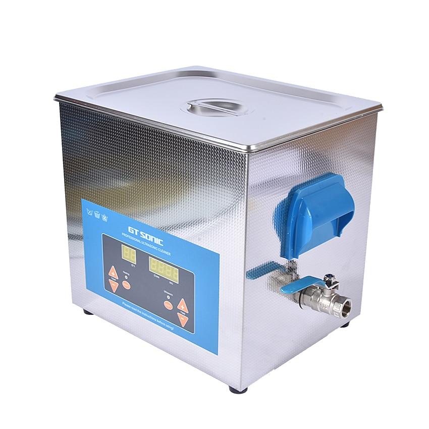 1 шт. цифровой VGT 1990QTD 110/220 V Профессиональная Ультразвуковая баня ювелирные изделия для ванной бытовой 9L 200 Вт Регулируемая Бесплатная корзина - 3
