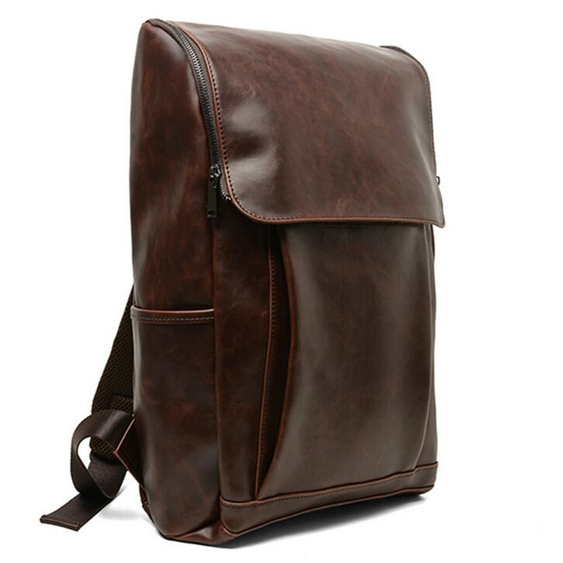 Luxury Brand Men Leather Backpacks Famous Designer Ladies Travel Bag Casual Female Backpacks For Businessman Student School Bag