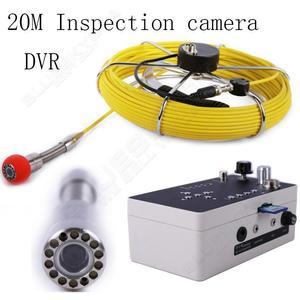 """Image 2 - จัดส่งฟรี! 20 เมตรท่อระบายน้ำกล้องวิดีโอกันน้ำ 7 """"หน้าจอ LCD ท่อระบายน้ำท่อท่อตรวจสอบกล้อง DVR Sewage กล้อง 12 Led"""