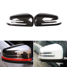 Car ABS Chrome Side Rearview Mirror Frame Cover Trim for Mercedes Benz A B GLA CLA GLK C E Class W246 W204 W176 W212 X156 W221