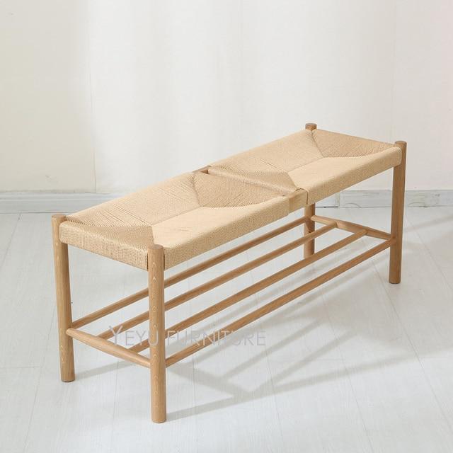 design moderne en chene massif en bois main tisse chaussures evolution selles ottoman barcelona