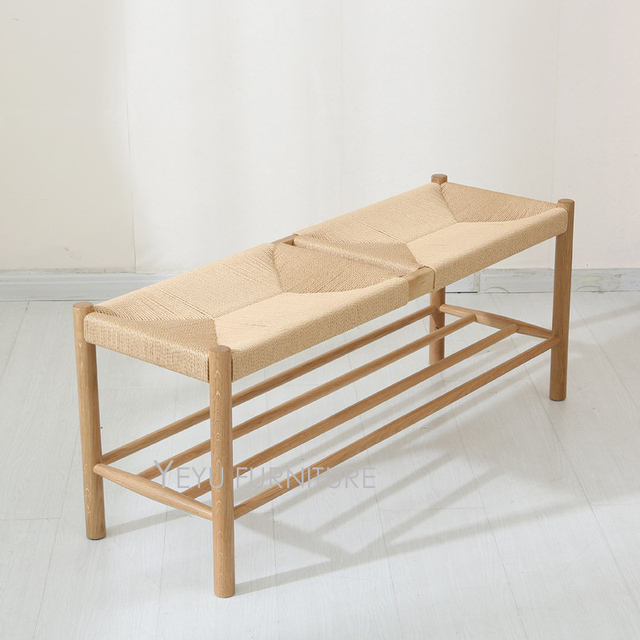 Diseño moderno del roble de madera tejida a mano Zapatos cambiar las ...
