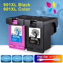 2pcs Ink Cartridge for HP 901XL HP901XL CC654AA CC656AA for HP Officejet 4580 4540 4500 4560 4640 4680 4660