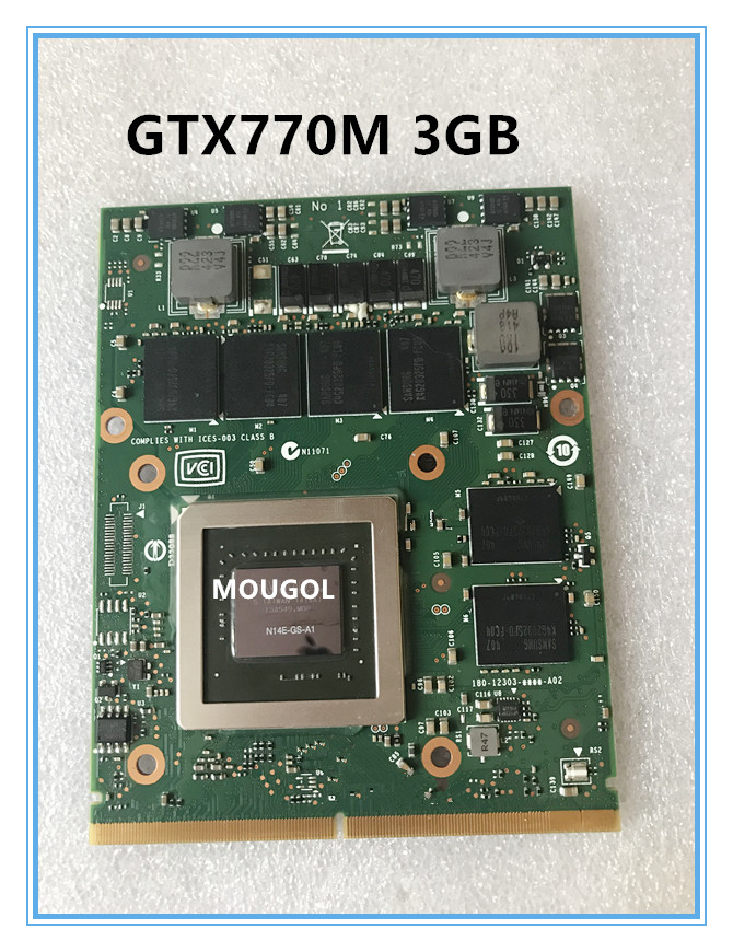 Original GTX770M GTX <font><b>770M</b></font> N14E-GS-A1 Vga Display card For Dell Alienware M17X M18X 3G MSI GT60 GT70 GT780 GT683 test 100% image