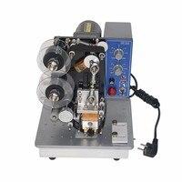 Máquina de impressão quente da data de expiração da folha de carimbo do desktop  máquina de escrever da fita
