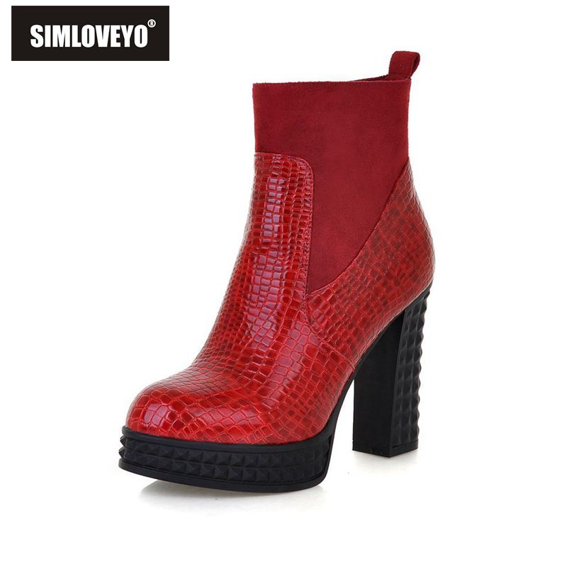 Online Get Cheap Red Patent Leather Boots -Aliexpress.com