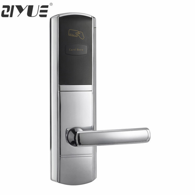 High Quality Stainless Steel Rf Key Card Electronic Electric Hotel Room Door Lock Rfid For System