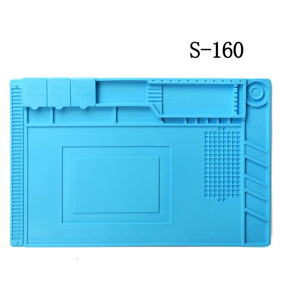 Heat Insulation Pad Soldering Station Soft Silicone Mat Work Pad Desk Maintenance Platform For BGA Soldering Repair Station