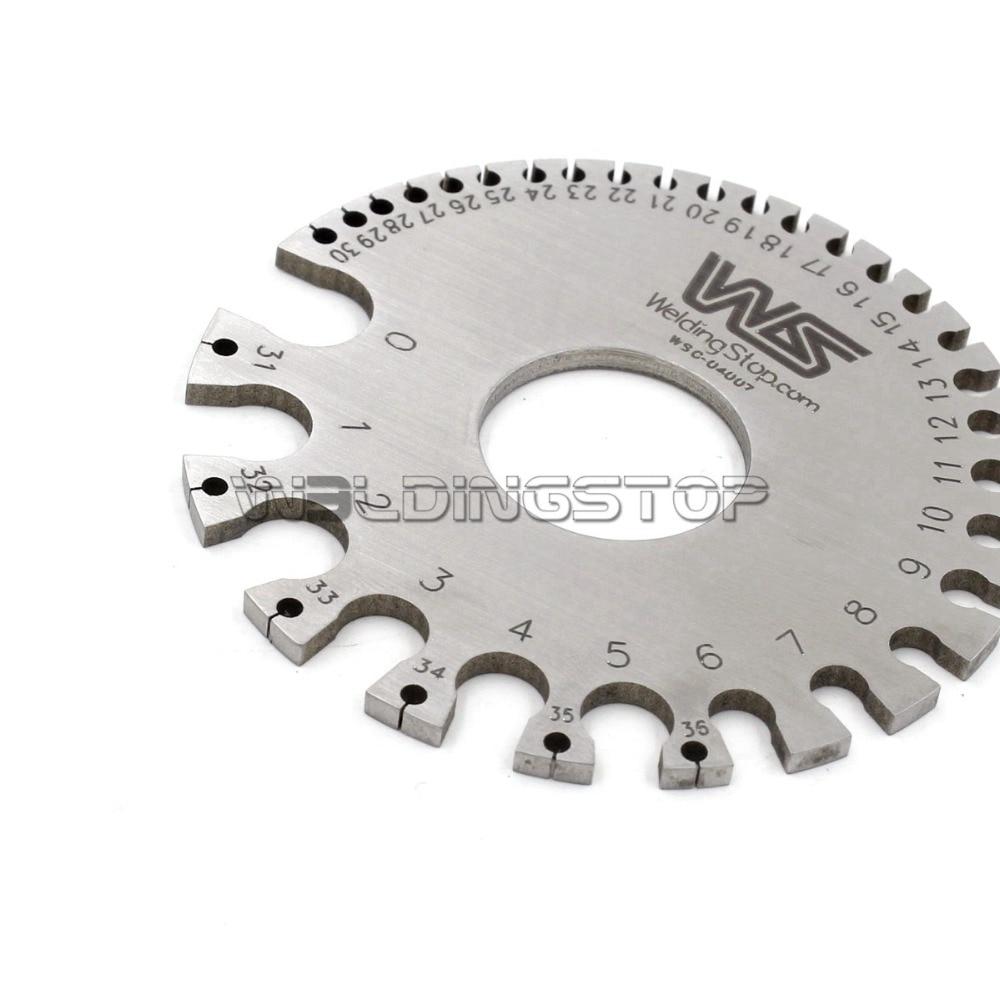 WS-04007 Round WIRE GAUGE diameter gage S.W.G. portable Mini Size