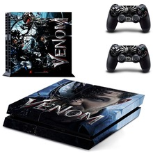 Spiderman VS Venom PS4 Skin Sticker Decal For Sony PlayStation 4 Console and 2 Controllers PS4 Skins Stickers Vinyl цена 2017