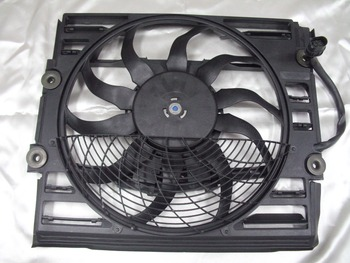 Auxiliary Radiator Cooling Fan Motor Assembly for BMW E38 1996-1998 OE: 64548380774 image