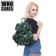 WEED FEUILLE Impression sacs à dos sac à dos En Cuir sac à dos mochila sacs à dos pour les filles 2016 Nouveau qui se soucie école sac Vintage sacs