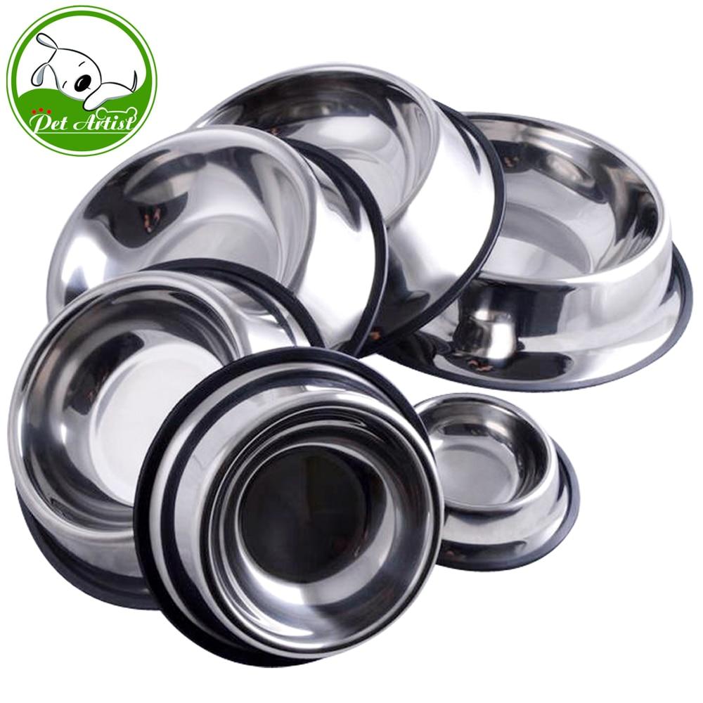 6 Sizes Stainless Steel No-Slip Pet Pupp