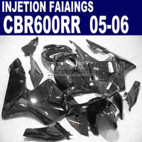 plastic injection molding road kit for Honda all black 600RR fairing CBR600RR 2005 2006 CBR 600 RR 05 06 fairings body parts