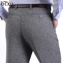 HCXY2018 men's summer thin section soft and comfortable casual pants men business trousers male large size 30-40