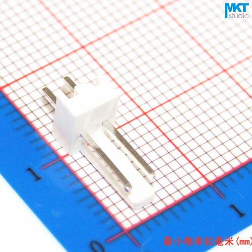 100Pcs KF2510 2.54mm Pitch 2P PCB Male Box Header Bar Connector, Pin Header Socket On PCB