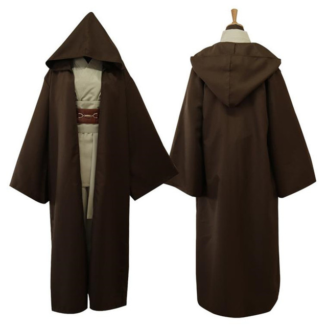 2018 Movie Star Wars Cosplay Jedi Knight Costumes Suit Halloween Christmas Bar Party Costume Top Trench Belt Cummerbunds Girdle 3
