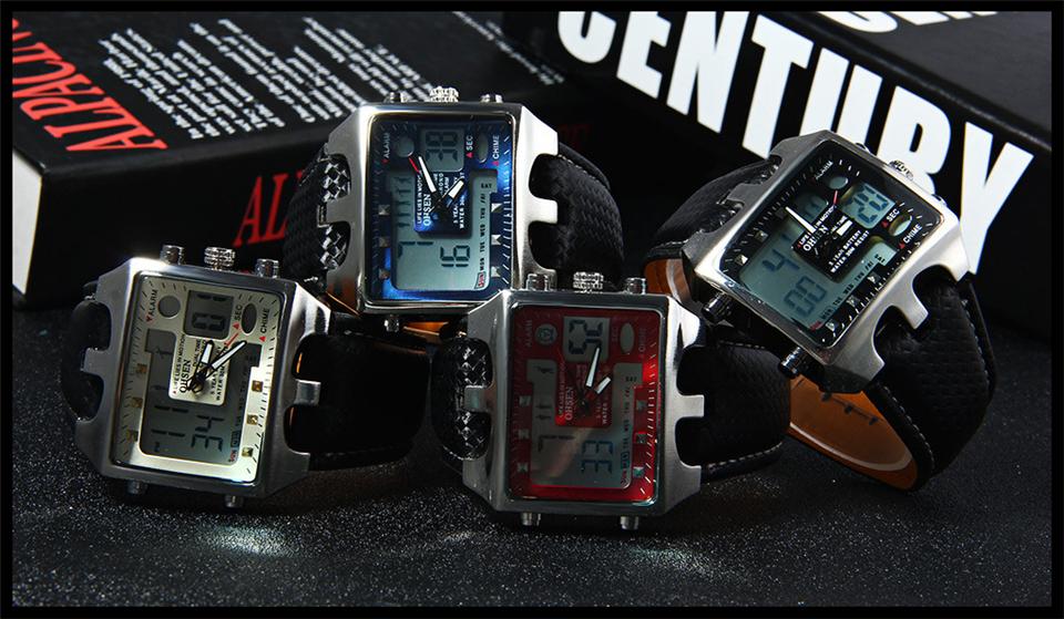 Hot Fashion OHSEN Brand Men Sports Watches Analog Casual Quartz 3ATM Waterproof Sport Military Watch Men Relogio Male Clock Gift (26)