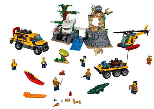 Image 5 - 60161 02061 870pcs Jungle Exploration Site Figure Model building toys Compatible with blocks City Bricks for children