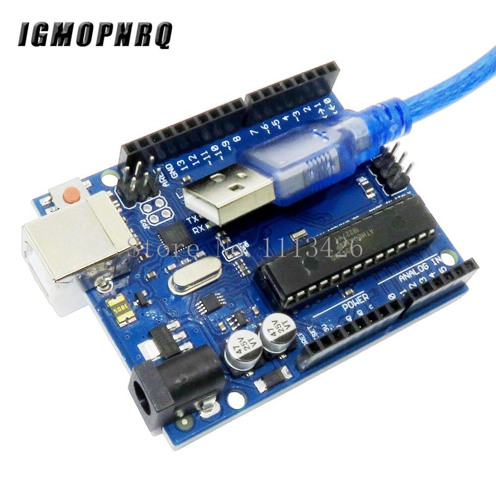 UNO R3 Mega328P ATMEGA16U2 Développement Conseil avec câble usb UNO R3 (avec logo) pour bricolage Starter Kit