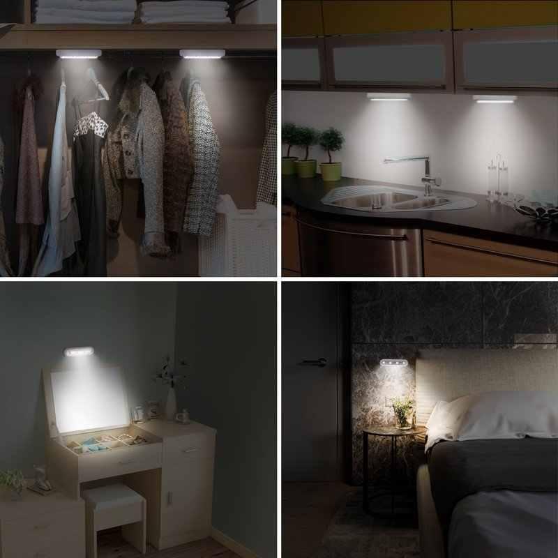 1 шт. беспроводной Ночной светильник с 5 Светодиодами для шкафа, лестницы, кухни, спальни, ночник, светильник для ящика, внутреннее освещение