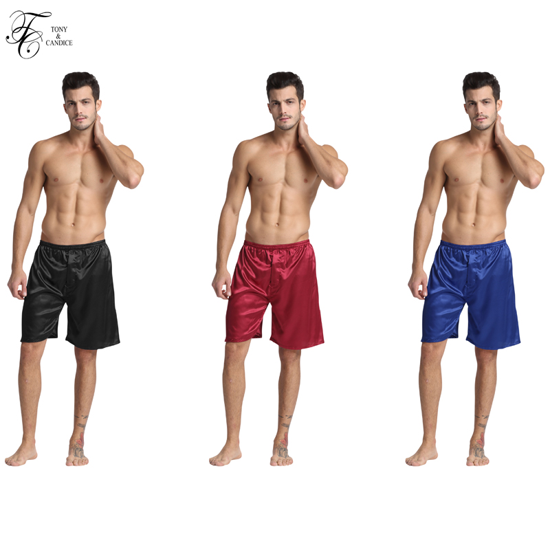 1 PCS Man S Silk Underwear Satin Boxers Shorts Combo Pack For Man Silk Pajamas Elastic
