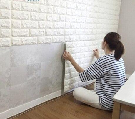 70x77cm DIY Self Adhesive 3D Wall Stickers Bedroom Decor Foam Brick Decor Wallpaper Wall Decor Living Wall Sticker For Kids Room