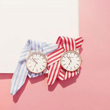 Ribbon Cloth Strap Creative Ladies Wrist Watch