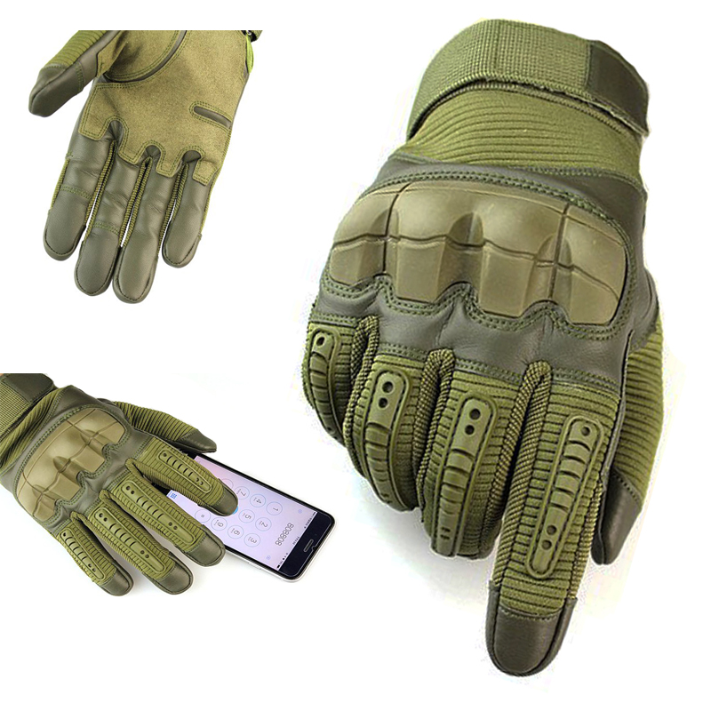 Tactical Gloves Full Finger Outdoor Sports Hiking Camping Cycling Men's Gloves Military Armor Protection Shell Gloves 3 Colors