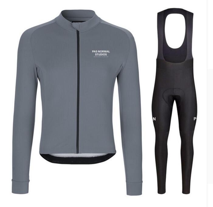 2019 Spring/Autumn Por Team PNS Men's Cycling Jersey Set Maillot Ropa Ciclismo Long Sleeve Bike Set MTB Bike Cycle Clothing Kit